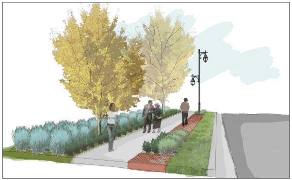 An artistic rendering from Boone's Lick Rd to McDonough St and Jackson St to First Capitol Dr.