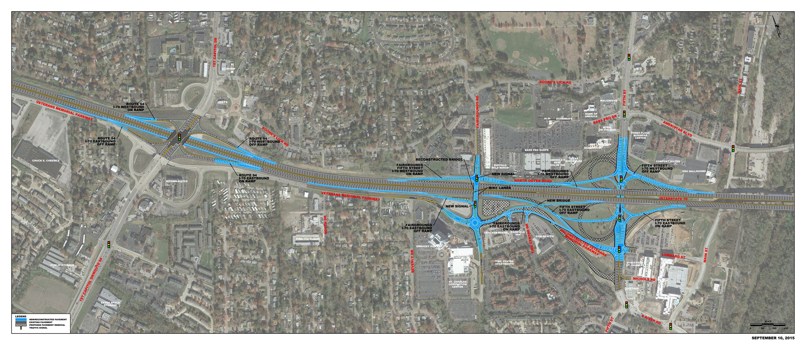 Strip Map of I70 at 5th Street Improvement