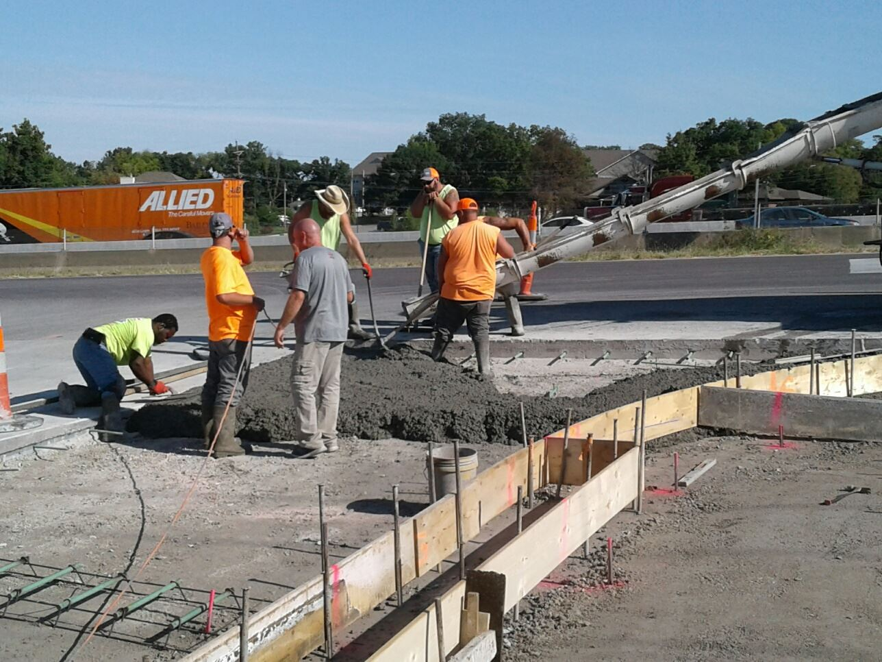 Veterans Memorial Parkway phase 3 concrete